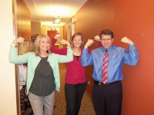 Zaching with Donna Hamilton and Dr. Riseberg